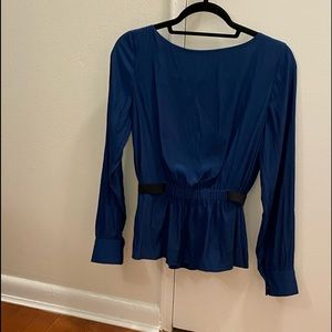 Thakoon Addition Button Blouse Top  Navy Size 2
